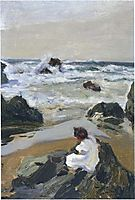 Elenita at the Beach, Asturias, sorolla