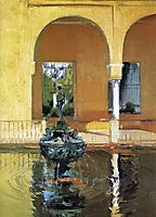 The Fountain in the Alcázof Seville, sorolla