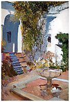 Fountain at the Alcazin Sevilla, sorolla