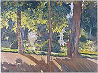 Gardens of La Granja, 1907, sorolla