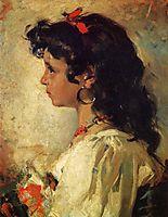 Head of an Italian Girl, 1886, sorolla