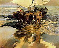 In Hope of the Fishing, 1913, sorolla