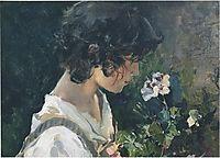 Italian Girl with Flowers, 1886, sorolla