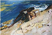 Looking for Crabs among the Rocks, Javea, 1905, sorolla