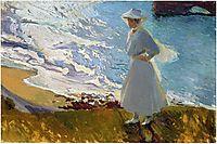 Maria at the Beach, Biarritz, 1906, sorolla