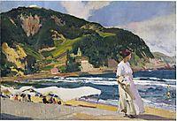 Maria on the beach, Zarauz, 1910, sorolla