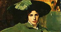 Maria with hat, 1910, sorolla