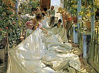 Mending the Sail, 1896, sorolla