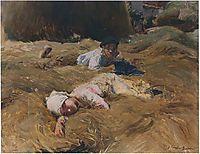 The nap, Asturias, 1903, sorolla