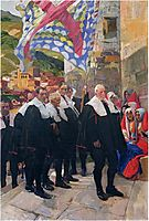 Navarre, the Town Council of Roncal, 1914, sorolla