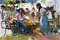 Net Menders in Valencia, 1909, sorolla
