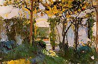 Old garden of the Alcazar in Seville, 1910, sorolla
