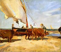 On the Beach at Valencia, 1910, sorolla