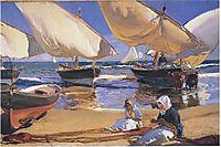 On the Beach at Valencia, 1916, sorolla