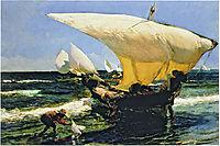 On the Coast of Valencia, 1898, sorolla