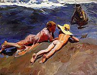 On the Sand, Valencia Beach, sorolla