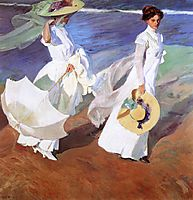 Promenade by the Sea, 1909, sorolla