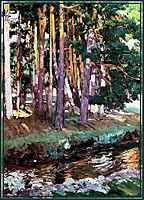 The river la Reina Valsain, 1907, sorolla