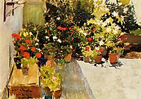 A Rooftop with Flowers, 1906, sorolla
