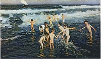 Sad Inheritance Study (Beach Rascals), 1908, sorolla