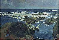Sea and rocks in San Esteban, Asturias, 1903, sorolla