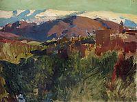 Sierra Nevada from the Alhambra, Grenada, 1910, sorolla