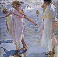 Strolling along the seashore, 1909, sorolla