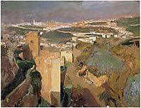 Tower of Seven, pont Alhambra, Granada, 1910, sorolla
