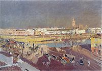 Triana bridge, Seville, 1908, sorolla