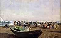 Valencia Beach. Fisherwomen., 1919, sorolla