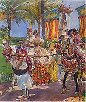 Valencia, Couples on horseback, 1916, sorolla