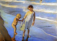 Valencia, Two LIttle Girls on a Beach, 1904, sorolla