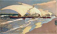 Valencian boats, 1908, sorolla
