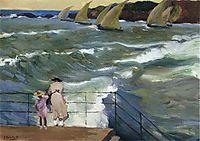 The Waves at San Sebastian, 1915, sorolla