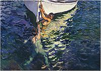 The white boat, Javea, 1905, sorolla