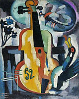 Composition with violin, souzacardoso
