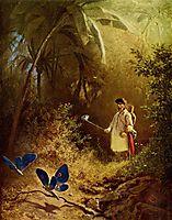 The Butterfly Hunter, 1840, spitzweg
