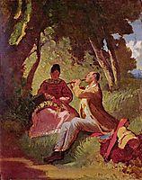 The Flute Recital , 1860, spitzweg