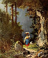 Girl with goat, 1861, spitzweg