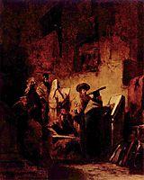 In the Synagogue, c.1860, spitzweg