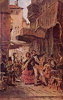Italian street singer, c.1855, spitzweg