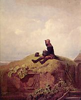 Once upon a time (the knitting outpost), c.1850, spitzweg