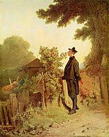 Rose scent memory, 1850, spitzweg