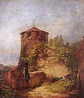 Sleeping guards, 1848, spitzweg