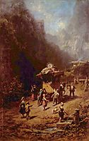 The stagecoach, 1880, spitzweg