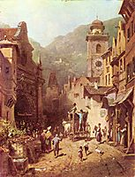 The visit of the father, c.1870, spitzweg