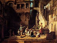 Washerwomen at the Well, spitzweg