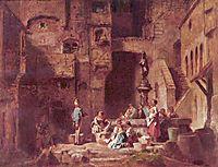 Washerwomen at the Well, c.1880, spitzweg