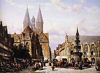 Altstadtmarkt in Brunswijk, springer