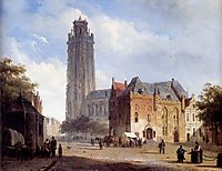 A Cathedral On A Townsquare In Summer, 1846, springer